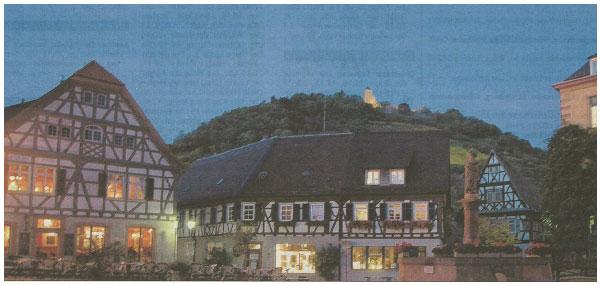 Blaue Stunde Marktplatz Heppenheim